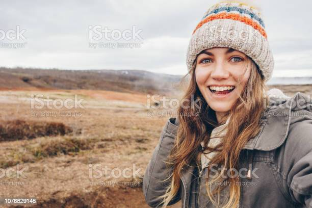 Young woman taking selfie portrait in iceland picture id1076829148?b=1&k=6&m=1076829148&s=612x612&h=rry9z hisefsndy7wf94yhnflsp0eaitotcpdezudo8=