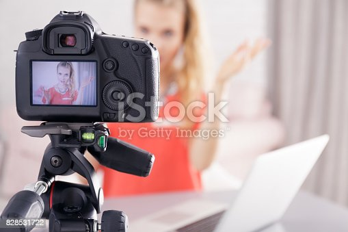 1179265329 istock photo Young woman tells her story 828531722