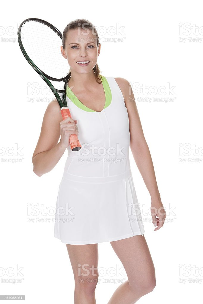 Young woman tennis player royalty-free stock photo