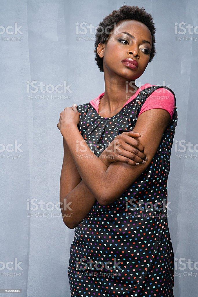 젊은 여자 사고 royalty-free 스톡 사진