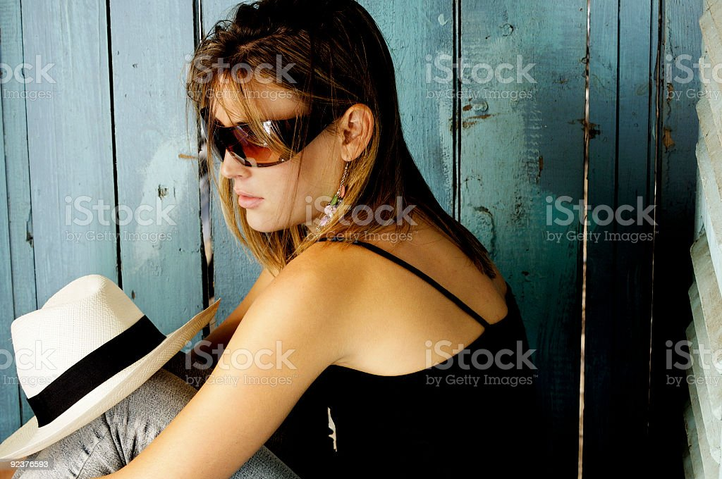 Young woman thinking royalty-free stock photo