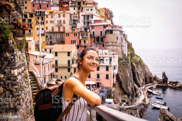 Young Woman Traveling Italy Stock Photo - Download Image Now