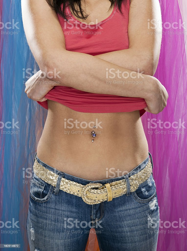 Young Woman Undressing royalty-free stock photo