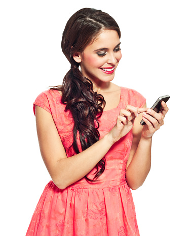 Young Woman Using A Smart Phone Stock Photo - Download Image Now