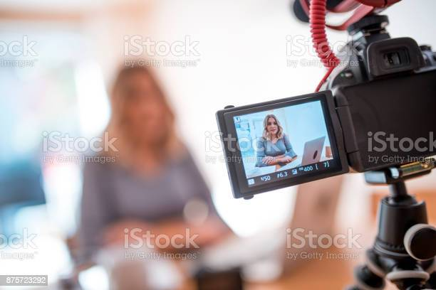 Young woman vlogging about her business life picture id875723292?b=1&k=6&m=875723292&s=612x612&h=d2tqkickyzeorj0sbvw4j gacavkjq ctweqyt9lp44=