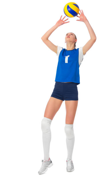 Young woman volleyball player stock photo