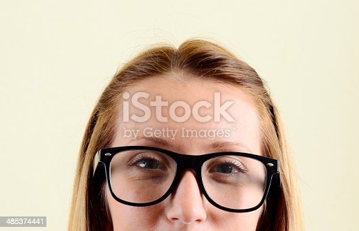 istock Young Woman W Glasses Portrait 485374441