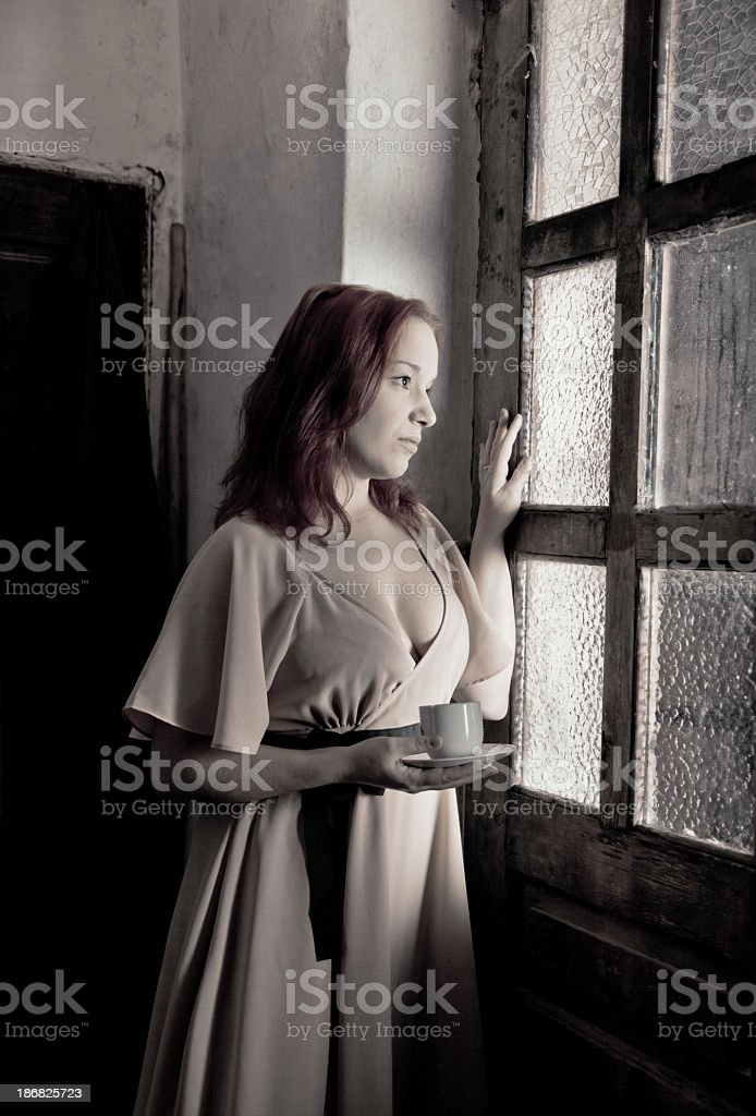 Young woman waiting... royalty-free stock photo