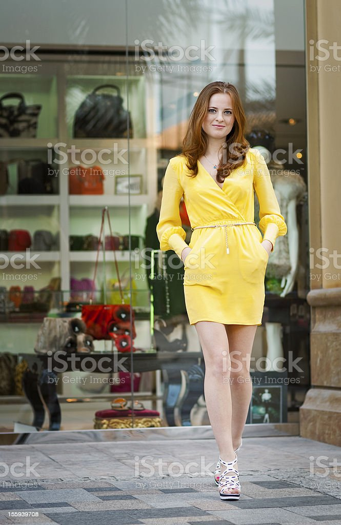 Young  woman walking royalty-free stock photo