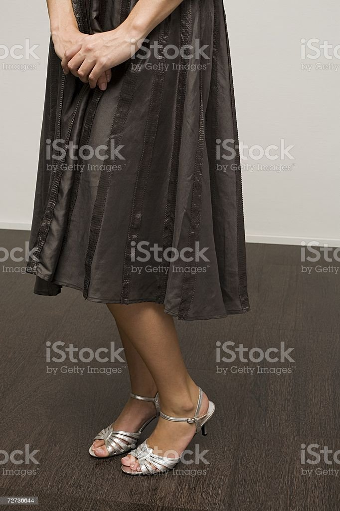 Young woman wearing a dress royalty-free stock photo