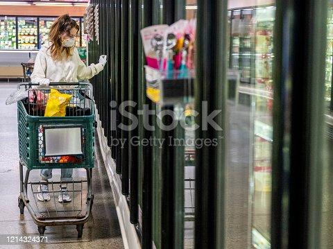 Shopping during a virus epidemic in Pennsylvania, USA.