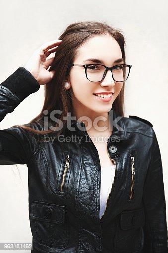 istock Young woman wearing eyeglasses 963181462
