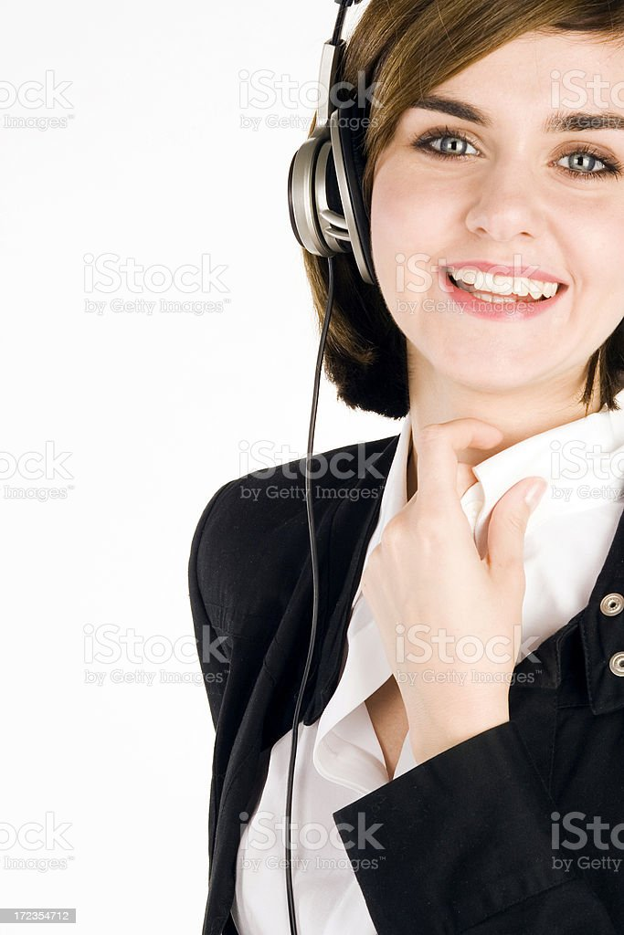 Young Woman Wearing Headphones royalty-free stock photo