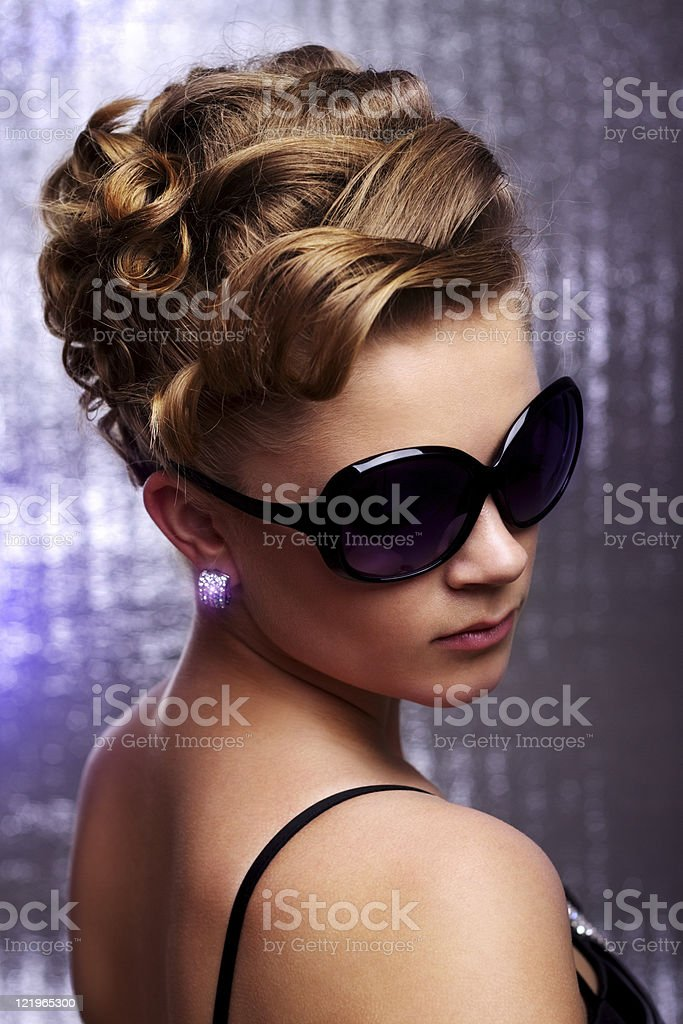 Young woman wearing sunglasses. royalty-free stock photo