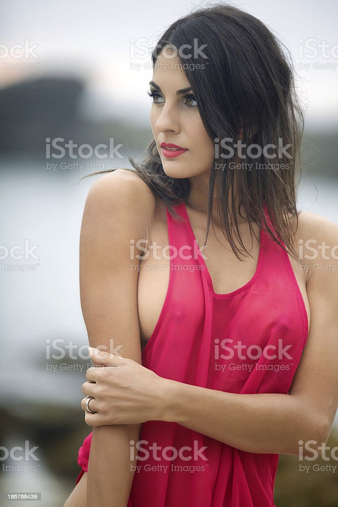 Young Woman Wearing Tank Top​​​ foto