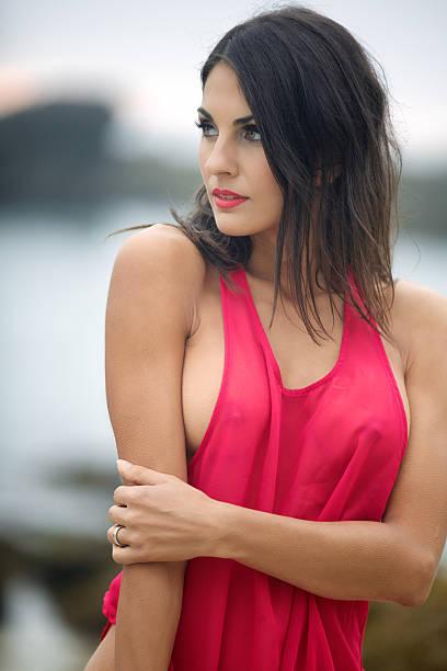 Young Woman Wearing Tank Top stock photo