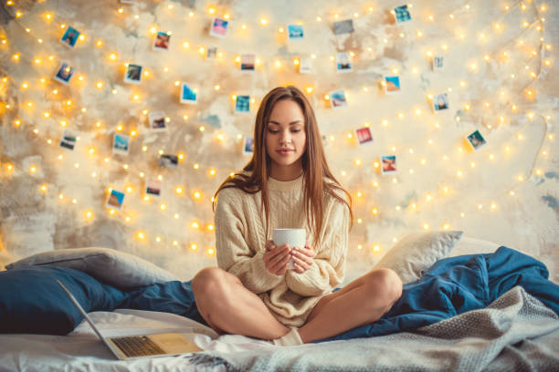 Young woman weekend at home decorated bedroom sitting thoughtful picture id1145532324?b=1&k=6&m=1145532324&s=612x612&w=0&h=gfrdy4jwzz24et8ggrqh8ad1p7watrw4vmn8b7pg 6g=