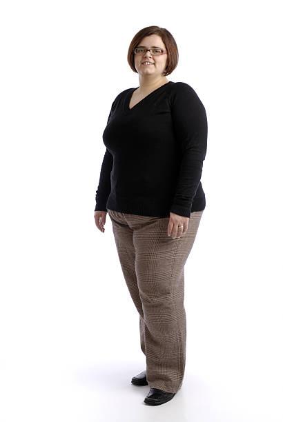 Junge Übergewichtige Frau – Foto