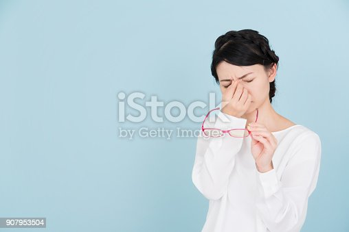 istock young woman whom eyes are tired from 907953504