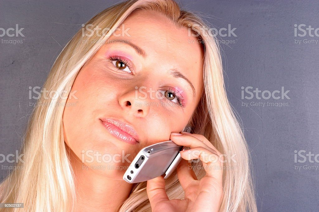 Young woman with a cell phone 05 royalty-free stock photo