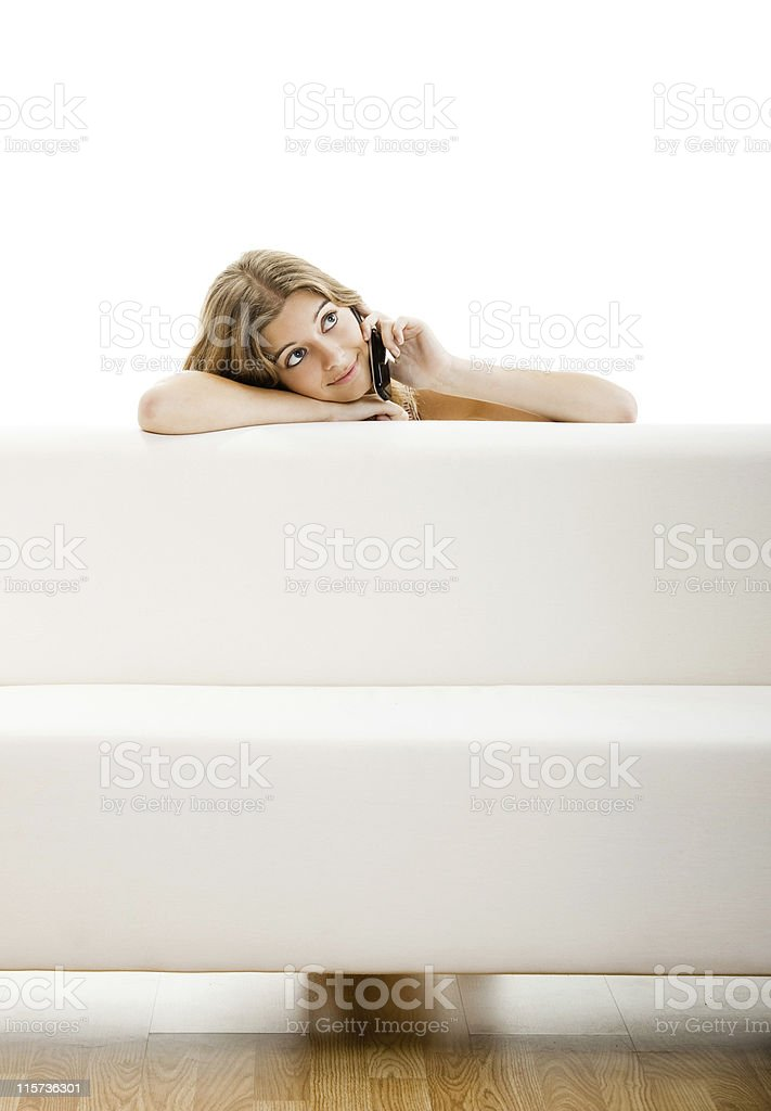 Young woman with a cell phone royalty-free stock photo