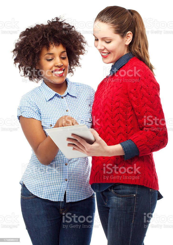 Young woman with a digital tablet royalty-free stock photo