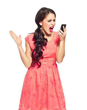 Young Woman With A Smart Phone Stock Photo - Download Image Now
