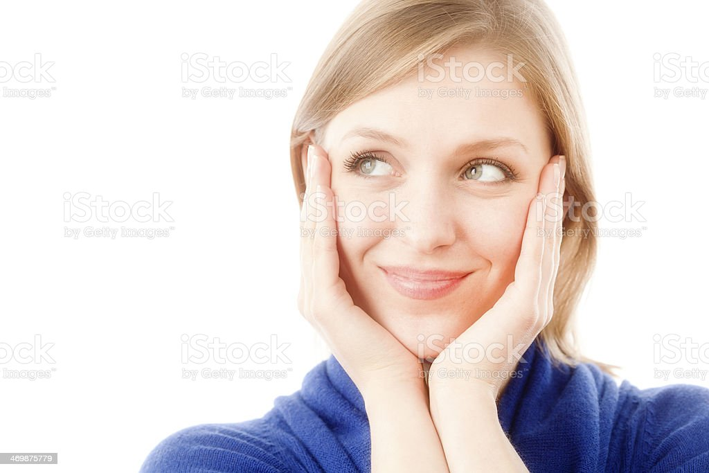 Young Woman with Amused Expression royalty-free stock photo