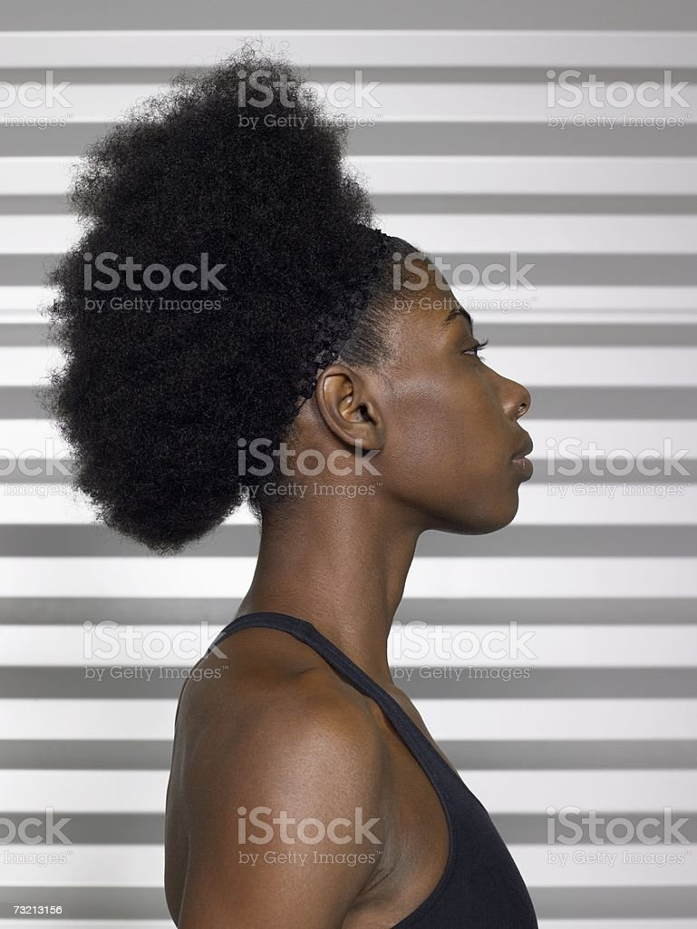 Young woman with an afro royalty-free stock photo