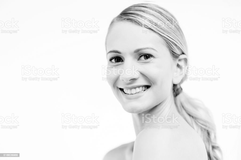 Young woman with bare shoulders royalty-free stock photo