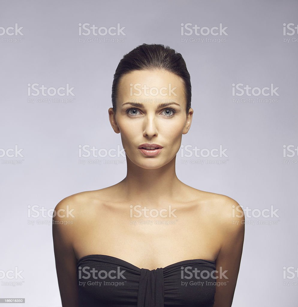 Young woman with beautiful and healthy skin stock photo