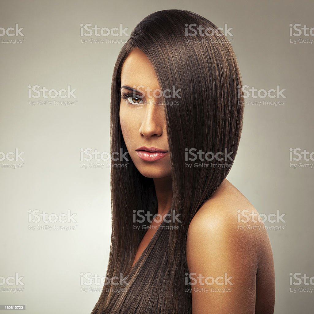 Young woman with beautiful hairstyle royalty-free stock photo