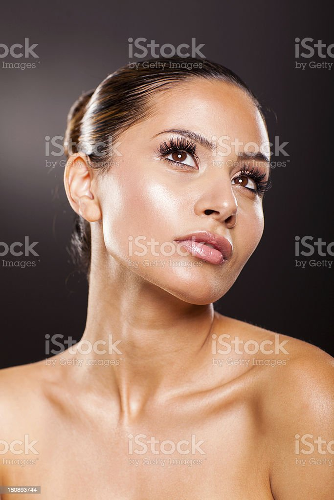 young woman with beautiful makeup royalty-free stock photo