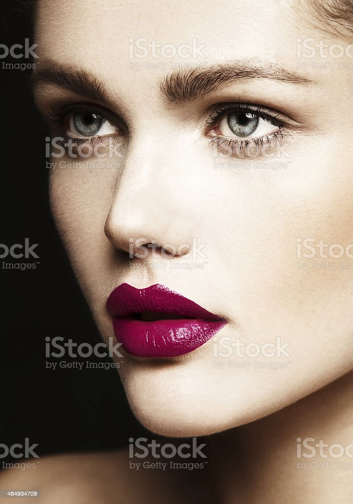 young woman with bright make-up stock photo