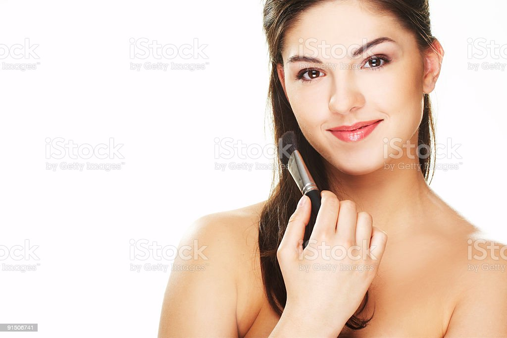 young woman with brush royalty-free stock photo