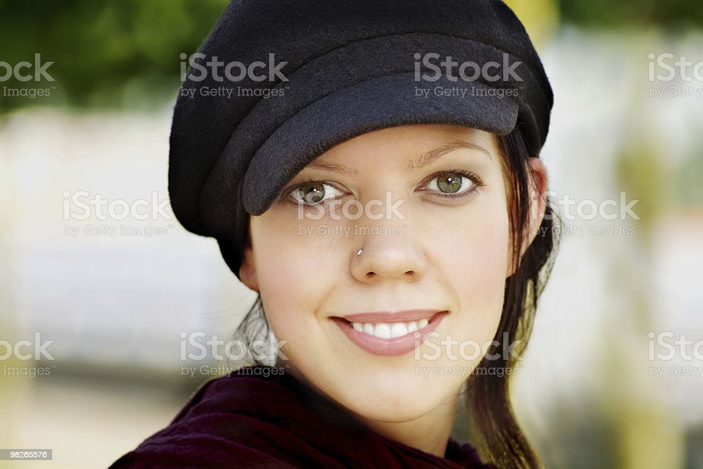 젊은 여자 캡 royalty-free 스톡 사진