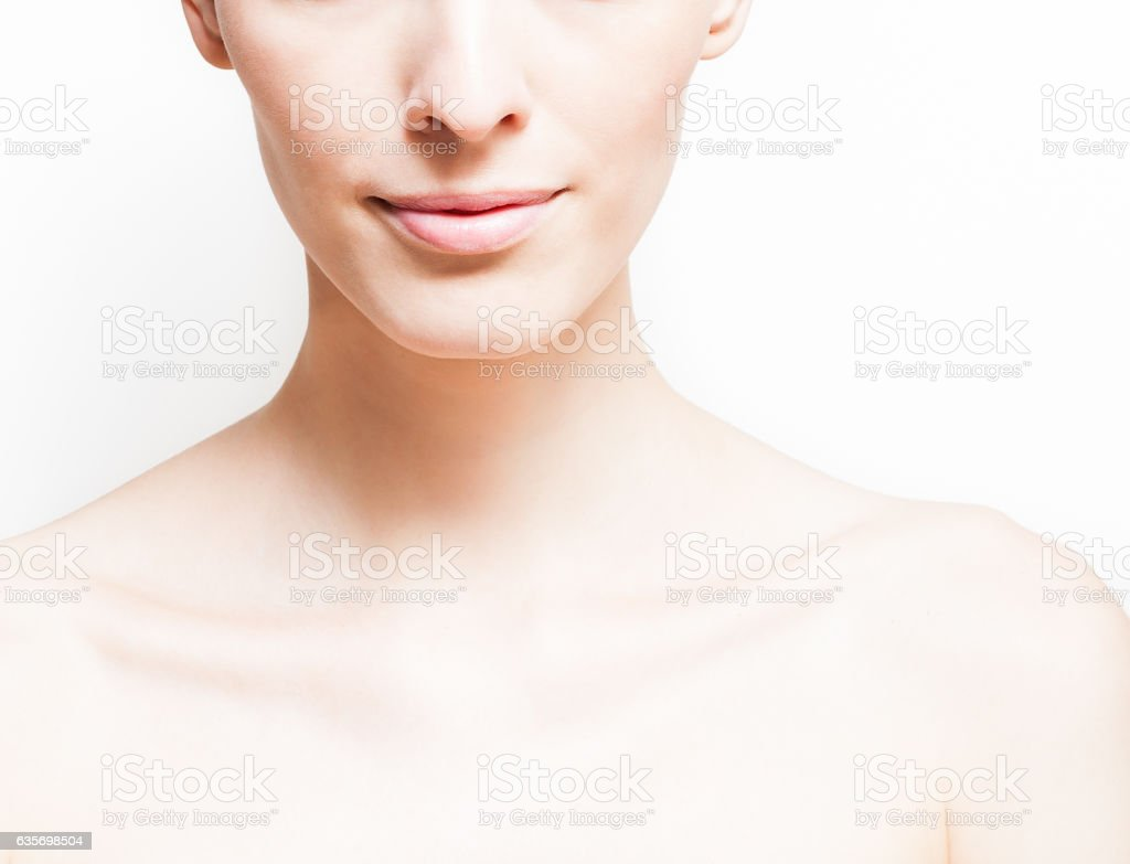 Young woman with clean fresh skin royalty-free stock photo