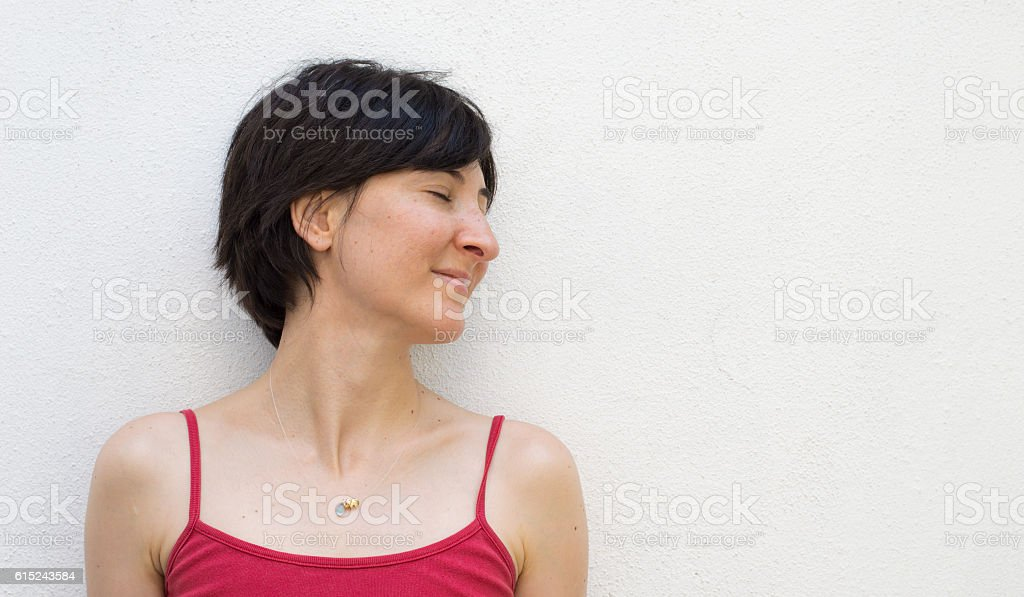 Young Woman With Closed Eyes stock photo