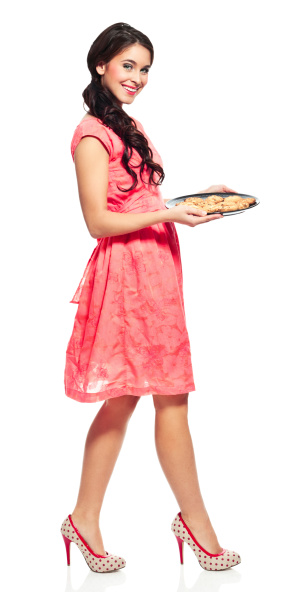 Young Woman With Cookies Stock Photo - Download Image Now