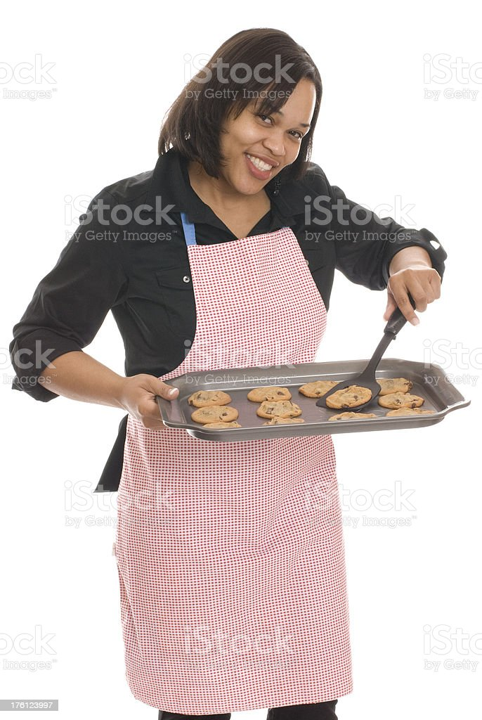 Young Woman With Cookies royalty-free stock photo