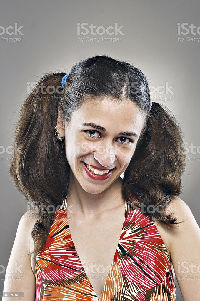 Young woman with cute smile royalty-free stock photo