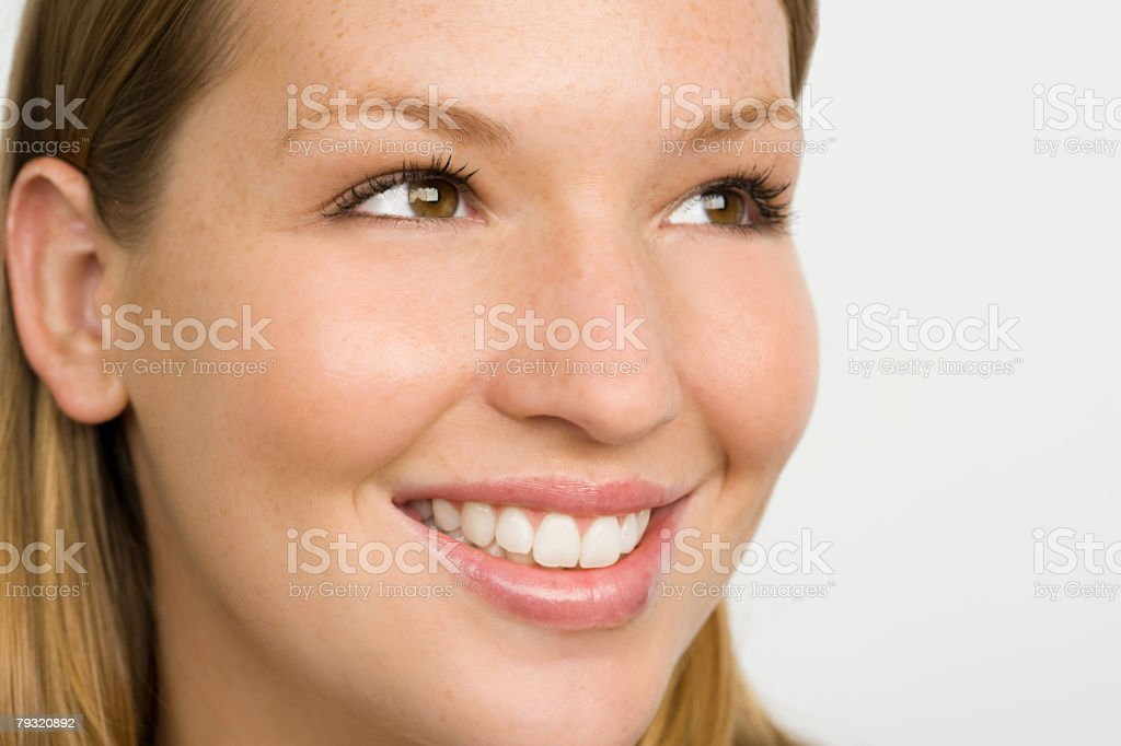 Young woman with freckles 免版稅 stock photo