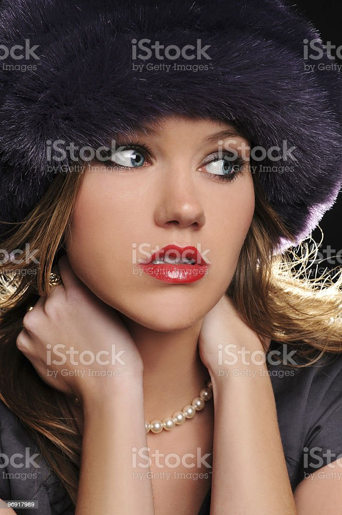 Young woman with hat royalty-free stock photo