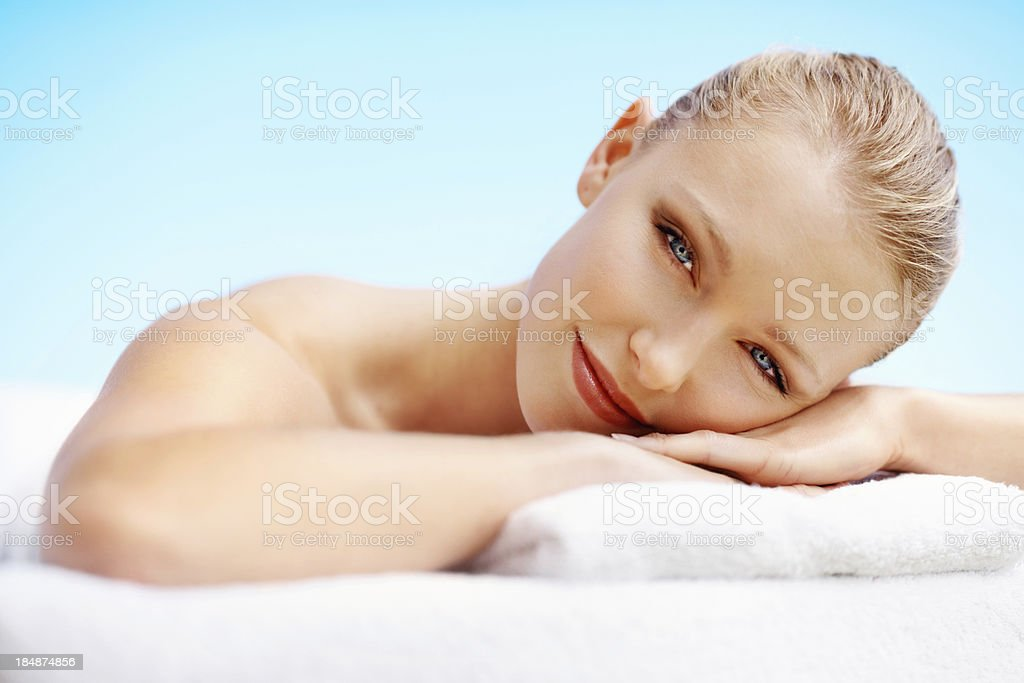 Young woman with healthy skin royalty-free stock photo