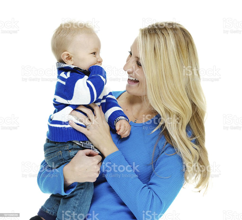 Young woman with her child royalty-free stock photo