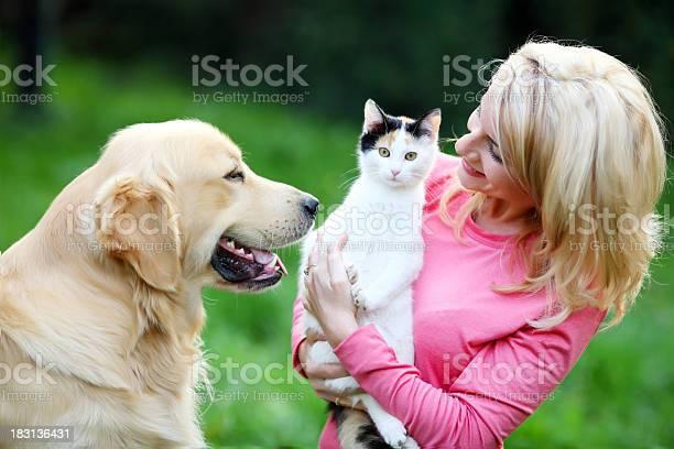 Young woman with her pets picture id183136431?b=1&k=6&m=183136431&s=612x612&h=otgrfzqnmagmuktazaodllgixqztktxfnexqoomzk6k=