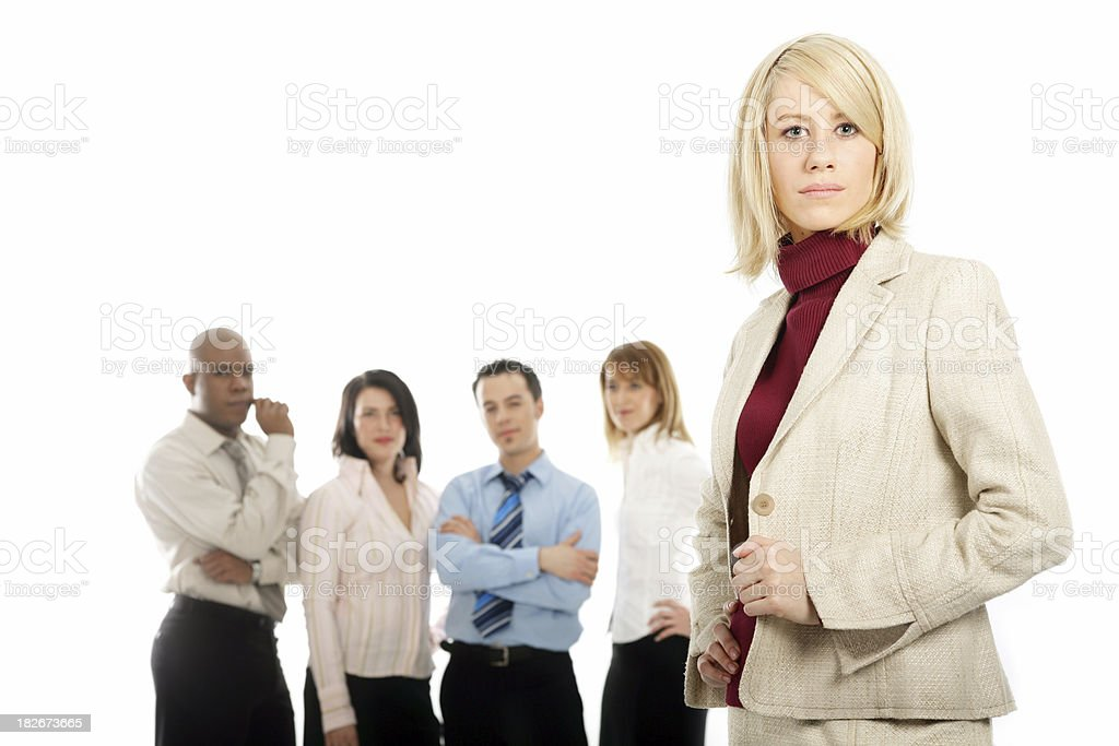 Young woman with her team IV royalty-free stock photo