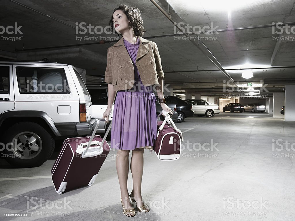 Image result for woman in parking garage