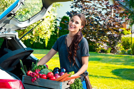 Young Woman With Organic Food Stock Photo - Download Image Now