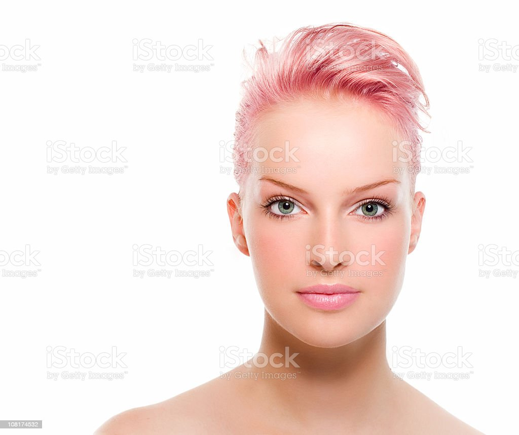 Young Woman with pink Hair royalty-free stock photo